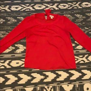 Women's small red Loft blouse